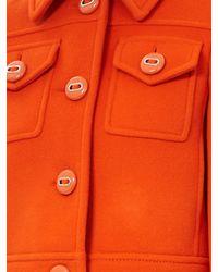 Prada Orange Cropped Wool Jacket