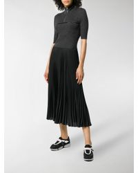 Prada Gray Bi-material Short Sleeve Dress