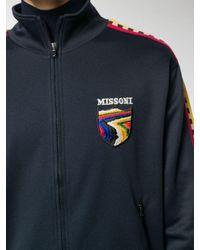 Missoni Trainingsjacke mit Streifen in Blue für Herren