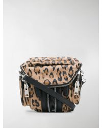 Alexander Wang Brown Leopard Print Zipped Crossbody Bag