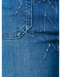 Stella McCartney Blue Star Patch Flare Jeans