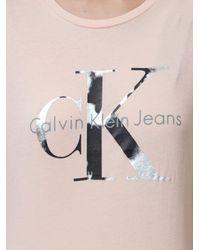 Calvin Klein Jeans Pink Tania Logo T-shirt
