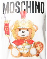 Felpa Roman Teddy di Moschino in White