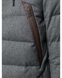 Piumino con zip di Herno in Gray da Uomo