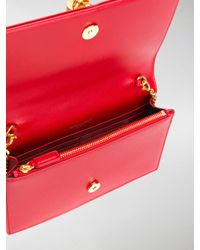 Saint Laurent - Red Kate Monogram Chain Wallet - Lyst