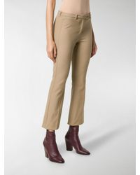 Max Mara - Brown Cropped Tailored Trousers - Lyst