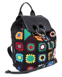J.W. Anderson Multicolor Pierce Crochet And Leather Backpack for men