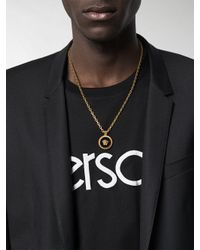 Versace Halskette mit Medusa-Anhänger in Metallic für Herren