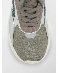 Valentino Gray Valentino Garavani Embroidered High-top Sneakers for men