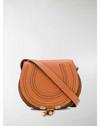 Chloé Brown Mini Marcie Cross-body Bag