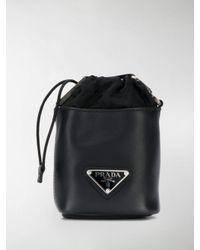 Prada Black Logo Pouch for men