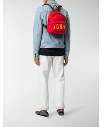 DSquared² Red Icon Backpack