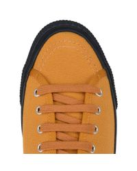 Stella McCartney - Yellow Sunflower Canvas Sneakers for Men - Lyst