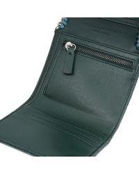 Stella McCartney Blue Petroleum Falabella Small Flap Wallet