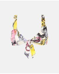 Top Bikini con Stampa Cavalli di Stella McCartney in Multicolor
