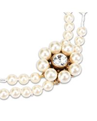 Stella McCartney - Natural Cream Rose Pearl Necklace - Lyst