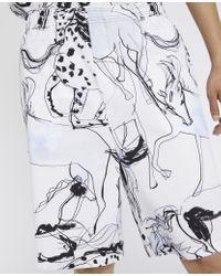 メンズ Stella McCartney ホース プリント ショーツ Multicolor