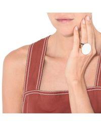 Stella McCartney White Circular Ring