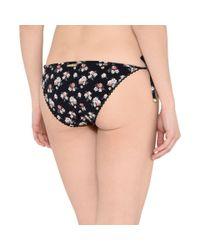 Stella McCartney   Black Vintage Floral Tie Side Bikini Bottoms   Lyst