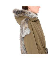 Stella McCartney Brown Fur Free Fur Gail Parka