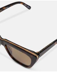 Stella McCartney Brown Avana Cat Eye Sunglasses