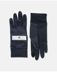 Adidas By Stella McCartney - Blue Black Running Gloves - Lyst