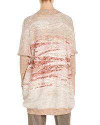 St. John Multicolor Sale Ombre Textured Jacquard Knit Cardigan