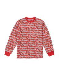 Supreme Signature Script Logo L/s Pocket Tee Red for men