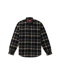 Supreme Plaid Flannel Shirt Black for men