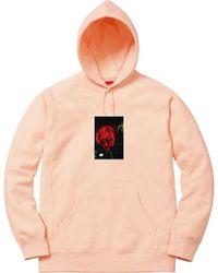 Supreme Multicolor Araki Rose Hooded Sweatshirt Peach for men