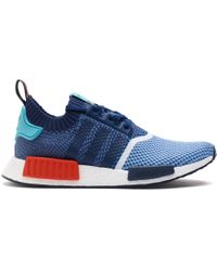 Adidas Blue Nmd R1 Packer Shoes for men
