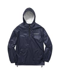 Supreme Blue Packable Ripstop Pullover (with Packable Bag) Navy for men