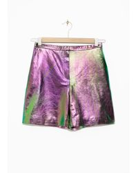 & Other Stories Multicolor Oily Shorts