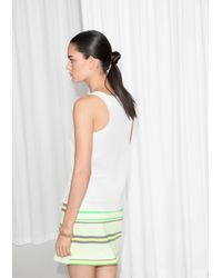 & Other Stories White Scooped Tank Top