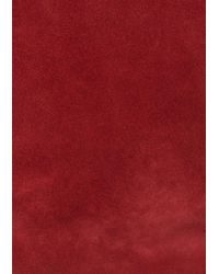 & Other Stories Red Fold-over Suede Crossbody