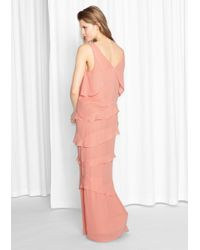 & Other Stories Pink Frill Dress