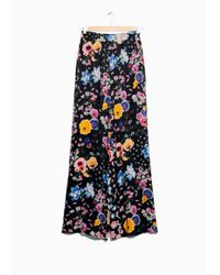 & Other Stories Black Meadow Flare Trousers