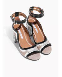 & Other Stories Natural Glitter Heel Strap Sandalette