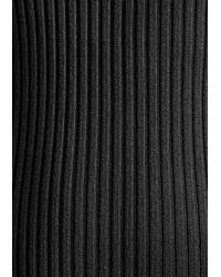 & Other Stories Black Knit Zip Dress