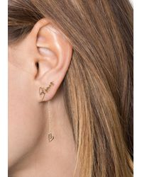 & Other Stories - Metallic Bisous Heart Earrings - Lyst