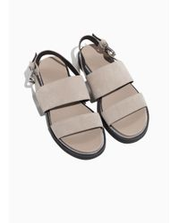 & Other Stories Natural Raw Edge Leather Sandals
