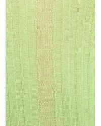 & Other Stories Green Sheer Ribbed Sweater