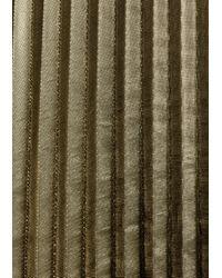 & Other Stories - Green Metallic Pleated Skirt - Lyst
