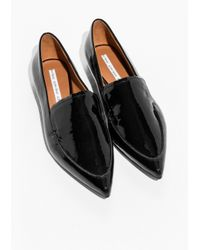 & Other Stories - Black Pointy Patent Loafer - Lyst