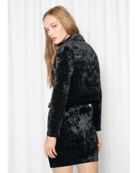 & Other Stories Black Petite Velvet Jacket