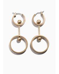 & Other Stories | Metallic Golden Globe Pendant Earrings | Lyst