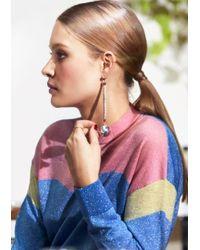 & Other Stories - Metallic Silver Globe Pendant Earrings - Lyst