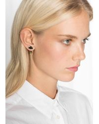 & Other Stories - Metallic Leather Flower Pendant Earrings - Lyst