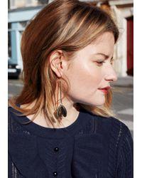 & Other Stories - Metallic Butterfly Pendant Earrings - Lyst