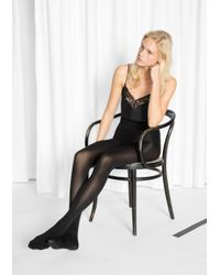 & Other Stories Black Swedish Stockings - Lia 100